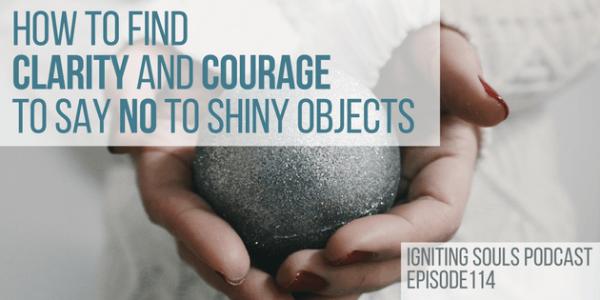 say no to shiny objects