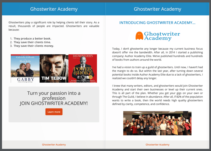 Ghostwriter Academy Flip Book