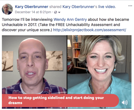Wendy Gentry Kary Oberbrunner Elixir Project -- achieve your goals